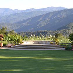 <p>Holman Ranch's Hacienda Lawn offers sweeping views of Carmel Valley. // © 2014 Deborah Dimond</p><p>Feature image (above): The property's historic...