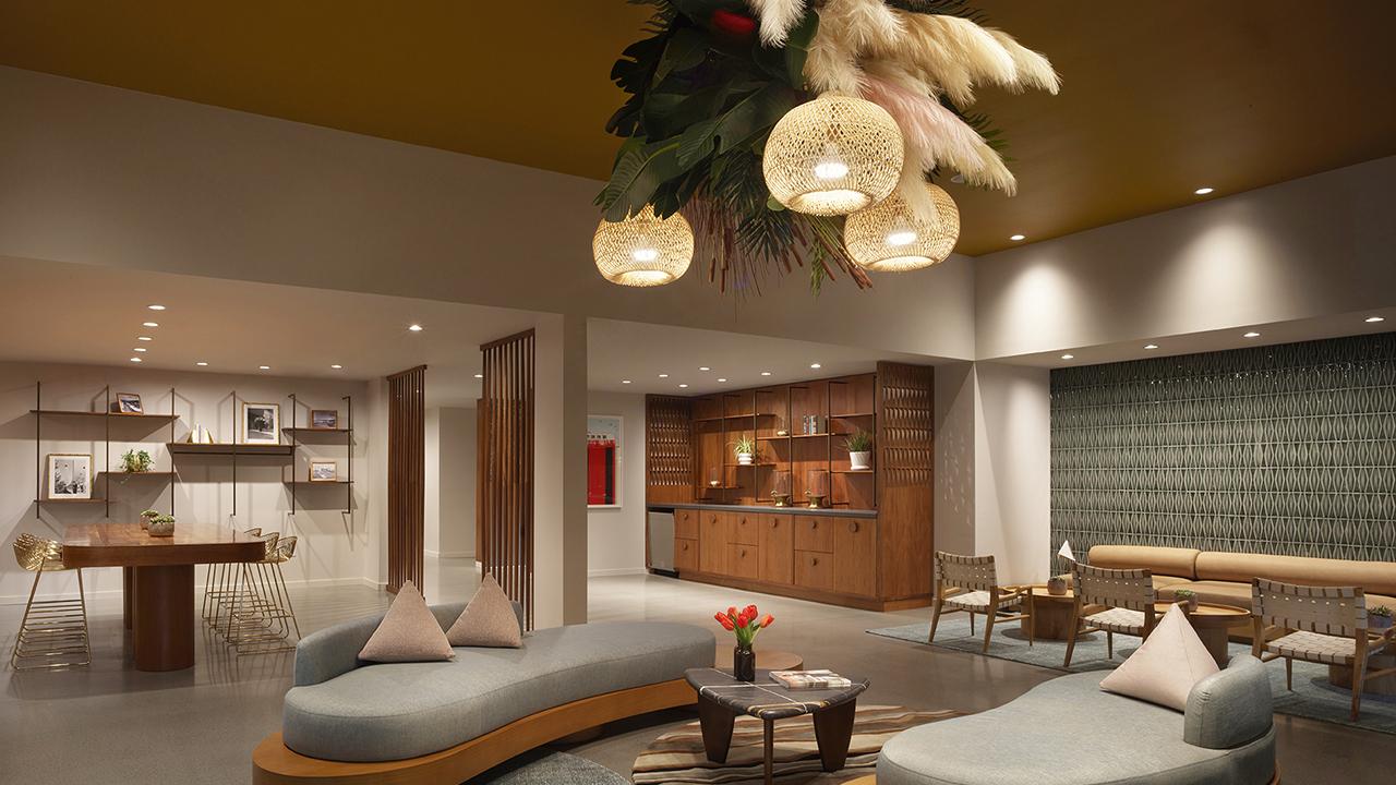 The lobby at Flamingo Resort