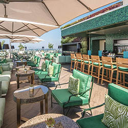 <p>The Rooftop by JG at Waldorf Astoria Beverly Hills offers expansive views of Beverly Hills and beyond. // © 2017 Waldorf Astoria Beverly...