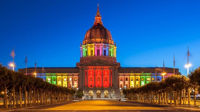 San Francisco is celebrated for being a LGBTQ+-friendly destination