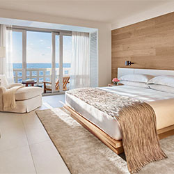 <p>An oceanfront guestroom at The Miami Beach Edition // © 2015 The Miami Beach Edition</p><p>Feature image (above): Thompson Miami Beach, which...