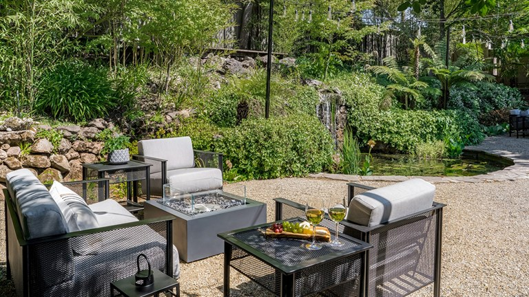 Some guestrooms at Milliken Creek Inn now include private fire pits.