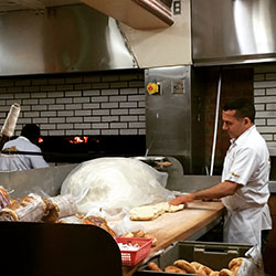 <p>Visitors to Fairmount Bagel will have a full view of the bakery's classic wood-fire ovens.  // © 2016 Emma Weissmann</p><p>Feature image (above):...