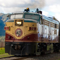 Napa Valley offers some activities that appeal across age groups, such as a scenic ride on the Napa Valley Wine Train. // © 2014 Napa Valley Wine...