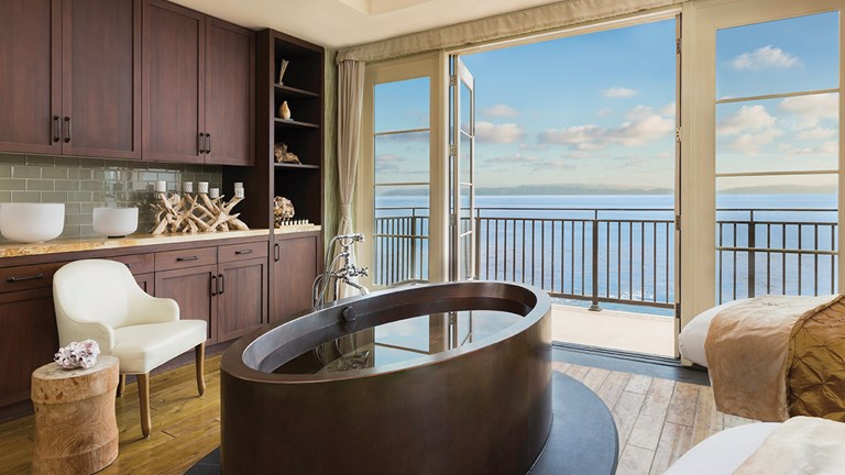 Several signature treatments at Terranea Resort feature hydrotherapy.