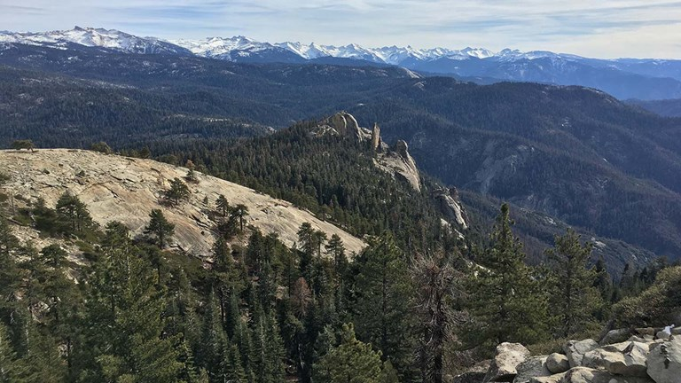 Those who hike Big Baldy Ridge Trail will be rewarded with far-reaching views.