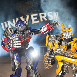 Transformers : The Ride-3D and the Simpsons' Springfield attraction are the summer's top attractions at Universal Orlando. // © 2012 Universal Orlando...