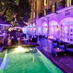 The courtyard and pool at the Hotel Le Marais in New Orleans // © 2014 New Orleans Hotel Collection