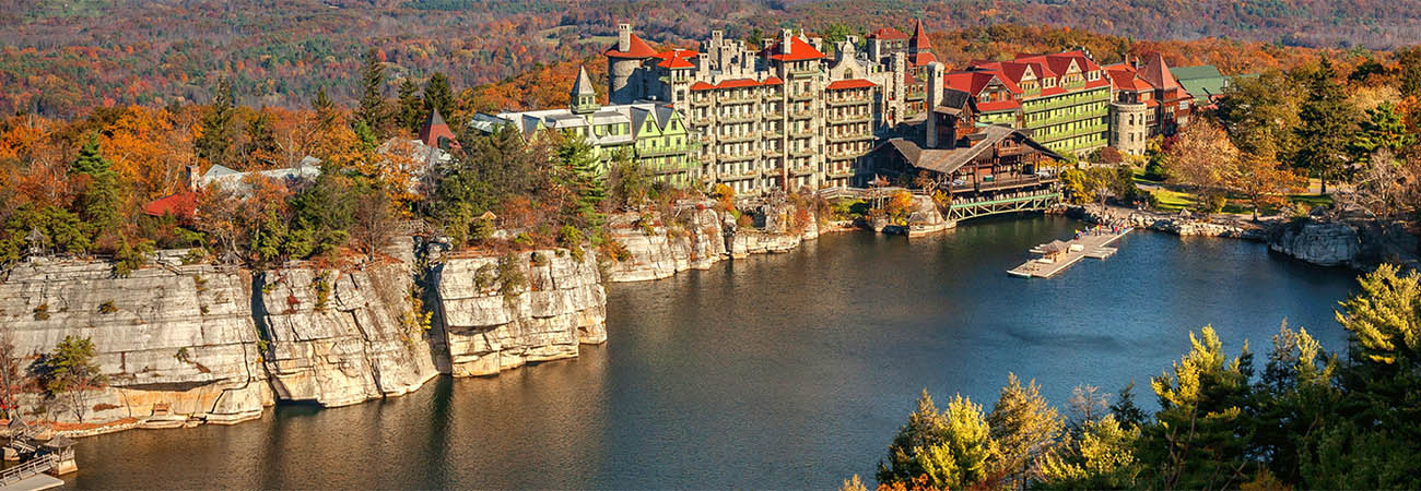 Hotel review mohonk mountain house travelage west for Weekend spa getaways ny