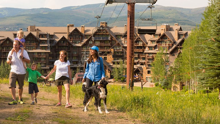 Guests at the property can take seasonal hikes to enjoy the surrounding wilderness and learn new skills.