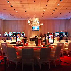 <p>The high-limit room is ready for high rollers at the SLS Las Vegas Hotel & Casino. // © 2014 Robin Rockey</p><p>Feature image (above): The...