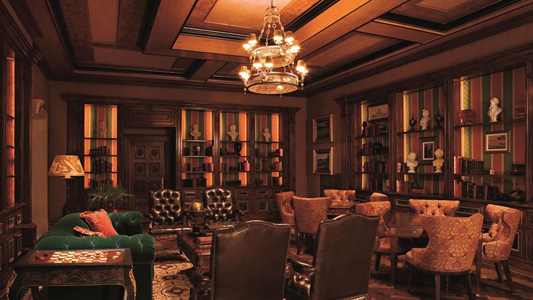 Sophisticated and detailed interior decor contributes to the hotel's high-end ambiance.