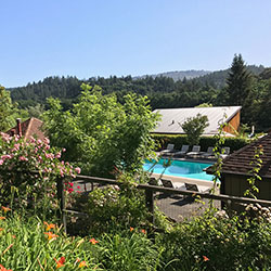 <p>Take a dip in the outdoor heated pool at Wine Country Inn & Cottages. // © 2017 Valerie Chen</p><p>Feature image (above): The St. Helena...