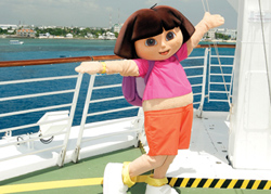 Kids can meet Dora the Explorer onboard a Royal Caribbean ship this summer. // (c) Nickelodeon/RCL