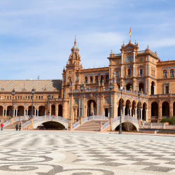 "Many cities in Spain have a Plaza de Espana, but this one was featured in two ""Star Wars"" films. In which city is it? // © 2013 Thinkstock"