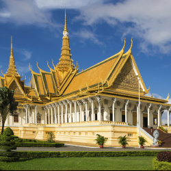 Parts of a Southeast Asian monarch's home are open to the public. In which country is this Royal Palace? // © 2013 Thinkstock