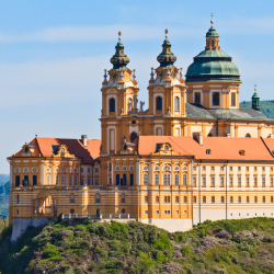 Passengers cruising the Danube might tour this 900-year-old Benedictine abbey. What is its name? // © 2013 Thinkstock