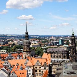 This German city was heavily bombed in WWII, but its important buildings were reconstructed. Which city is it?