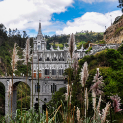 Las Lajas, built in the canyon of Guaitara River, is a pilgrimage site in which country? // © 2016 hbrizard