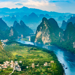 The scenery of Guilin, China, can be experienced on cruises along which river? // © 2016 iStock