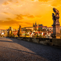 What is the name of this famous Czech landmark? // © 2016 f9photos