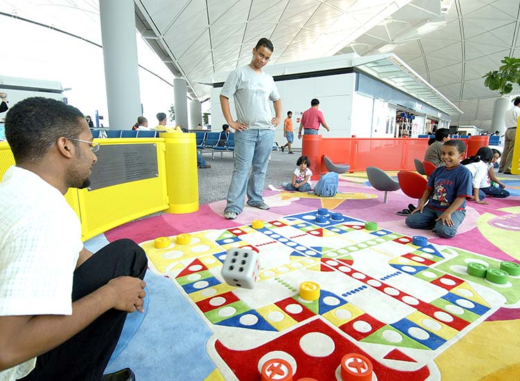 There are plenty of kid-friendly amenities for children at Hong Kong International Airport, including play areas and Dream Come True Education Park. // © 2014 Hong Kong International Airport