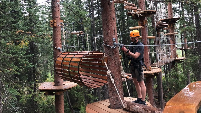 The Lost Forest activities included the Lost Forest ropes course in Snowmass.