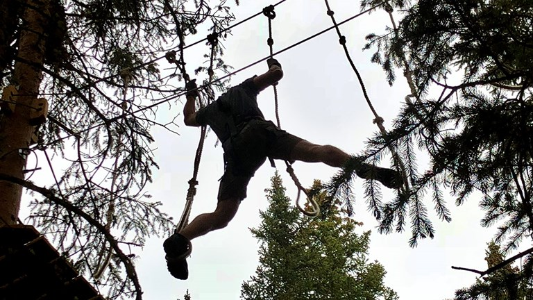 Some participants braved The Lost Forest's ropes course in Snowmass, Colo.
