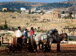 The Roman Army Chariot Experience in Jerash, Jordan, takes visitors back in time. // (c) Mark Edward Harris