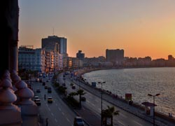 Alexandria's beaches and surrounding coastline stretch for miles. // (C) 2010 David Evers