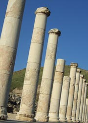 The ancient ruins of Beit Shean // (C) 2010 Harold Hutchings