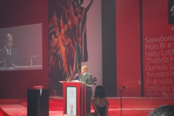 South Africa's president, Jacob Zuma, addressed INDABA attendees at the opening ceremony. // © 2010 Janeen Christoff