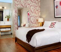 A guestroom at the seven-room Heywood Hotel // (c) 2012 Heywood Hotel