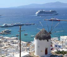 The Crystal Serenity in Mykonos, Greece // (c) 2012 Skye Mayring