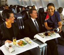 "<p class=""small_caption"" align=""left"">Passengers are pampered in SAA's Premium Business Class. // © 2010 South African Airways</p>"