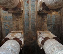 The protective ceiling on the Temple of Hathor at Dendera // © 2010 Skye Mayring