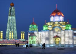 Harbin is known for its annual snow and ice festival. // (C) 2010 Harry Alverson