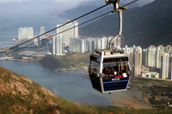 The Ngong Ping 360 Cable Car ride offers amazing views of Hong Kong. // (c) James Wheare