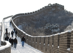 The snow-covered Great Wall of China // (c) Skye Mayring 2009