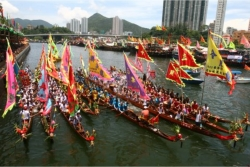 The annual dragon boat races are one of Hong Kong's most popular summer events. // © Hong Kong Tourism Board
