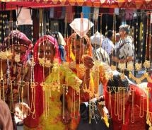 Women shopping at the jewelry stand at the Pushkar Camel Fair // (c) 2009 Shreyans Bhansali