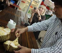 There's no better place to try durian for the first time than in Geylang. // © 2011 Deanna Ting