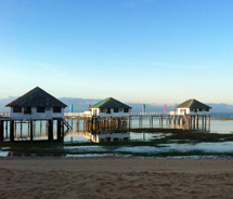 Floating cottages at the Stilts Calatagan Beach Resort // © 2012 Beatrice Baisa