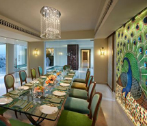<div>The Peacock Suite at the ITC Gardenia // © 2012 ITC Hotels</div>