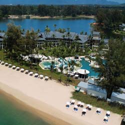 An aerial view of Outrigger Laguna Phuket Beach Resort in Thailand // © 2013 Outrigger Enterprises Group