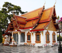 The wat at Doi Suthep is an architectural and spiritual gem. // © 2010 Pride Travel/S. Nathan DePetris