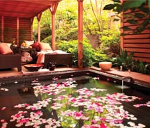 At the Four Seasons Hotel Tokyo at Chinzan-so, the Yu spa features a private plunge pool in one of its spa suites. // © 2010 Four Seasons Hotels &...