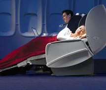 Air China's business class pampers passengers. // © 2010 Air China  Limited