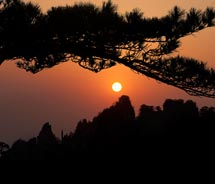 Sunrise and sunset are especially beautiful on Huangshan. // © 2011 Mark Edward Harris