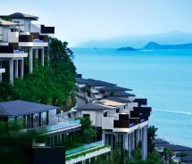 Conrad Koh Samui's villas offer views of mainland Thailand and the sea. // © 2012 Conrad Koh Samui